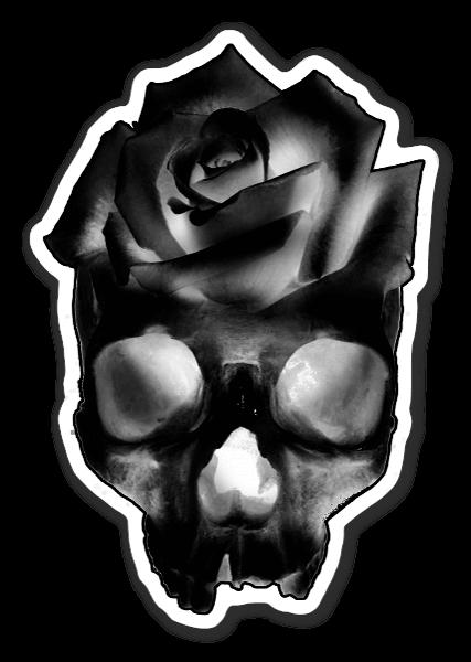 Skull Rose  sticker