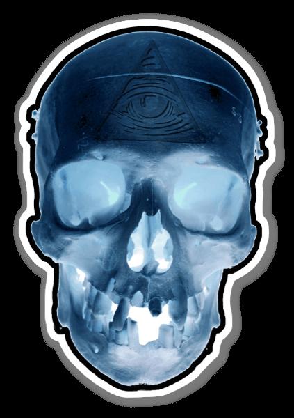 Illuminati Skull  sticker