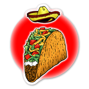 Taco Tusday sticker