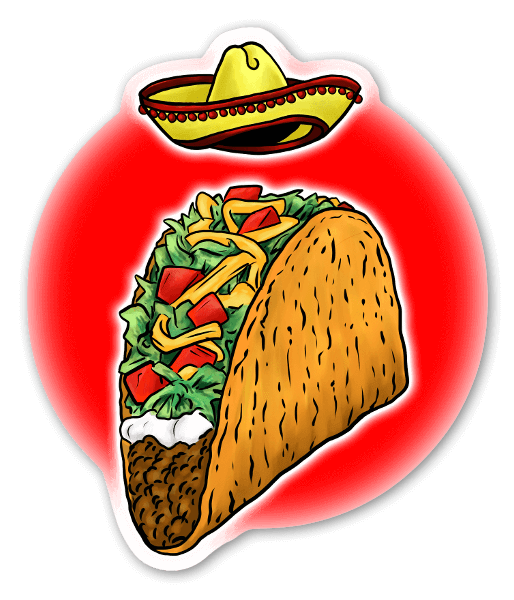Taco Tirsdag! sticker