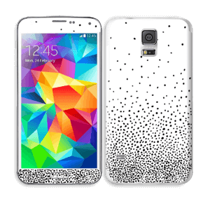 Schwarze Regentropfen Skin Galaxy S5