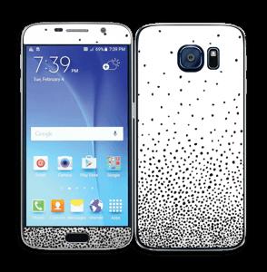 Gotas de Lluvia Negras Vinilo  Galaxy S6