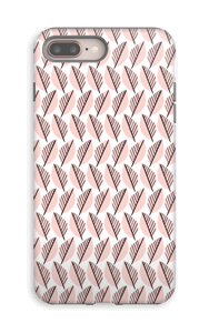 Vaaleanpunaiset lehdet kuoret IPhone 8 Plus tough