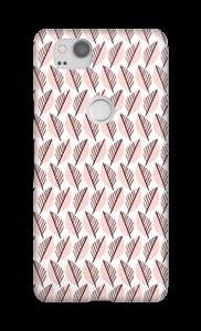 Vaaleanpunaiset lehdet kuoret Pixel 2