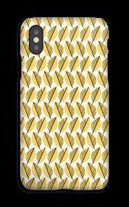 Yellow Foliage case IPhone XS