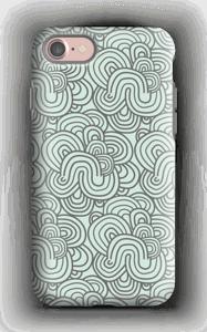 Vihreät käyrät kuoret IPhone 7 tough