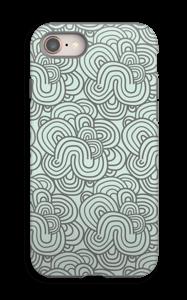 Vihreät käyrät kuoret IPhone 8 tough