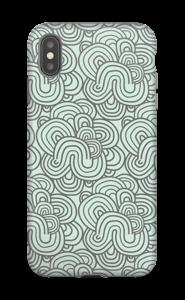 Mønster i grøn cover IPhone XS Max tough