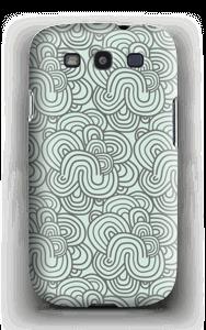 Vihreät käyrät kuoret Galaxy S3