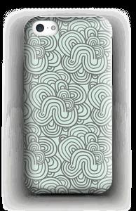 Vihreät käyrät kuoret IPhone 5c
