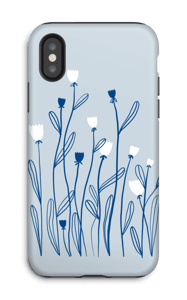 Tulipes bleues Coque  IPhone X tough