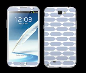 Pavé bleu Skin Galaxy Note 2