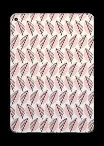 Vaaleanpunaiset lehdet tarrakuori IPad Pro 9.7