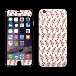 Vaaleanpunaiset lehdet tarrakuori IPhone 6/6s
