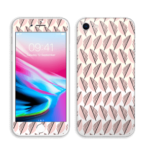 Roze bladwerk Skin IPhone 8