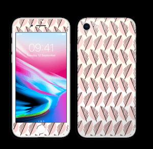 Vaaleanpunaiset lehdet tarrakuori IPhone 8