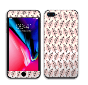 Vaaleanpunaiset lehdet tarrakuori IPhone 8 Plus