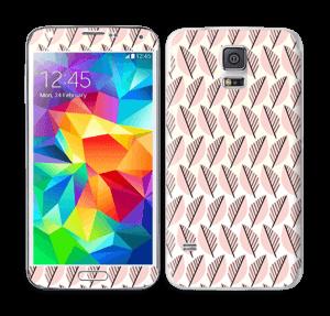 Vaaleanpunaiset lehdet tarrakuori Galaxy S5