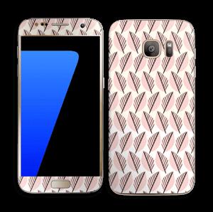 Vaaleanpunaiset lehdet tarrakuori Galaxy S7