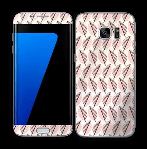 Roze bladwerk Skin Galaxy S7 Edge