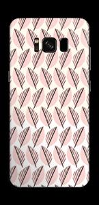 Vaaleanpunaiset lehdet tarrakuori Galaxy S8