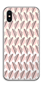 Roze bladwerk Skin IPhone XS