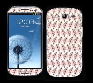 Vaaleanpunaiset lehdet tarrakuori Galaxy S3