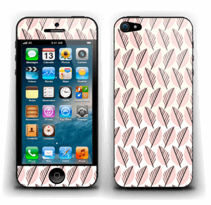 Roze bladwerk Skin IPhone 5