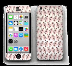 Vaaleanpunaiset lehdet tarrakuori IPhone 5c