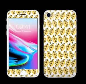 Keltaiset lehdet tarrakuori IPhone 8