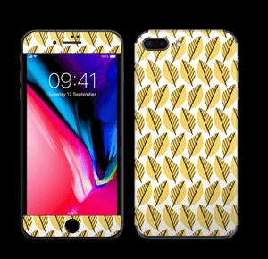 Geel bladwerk Skin IPhone 8 Plus
