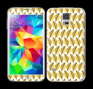 Keltaiset lehdet tarrakuori Galaxy S5