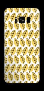 Geel bladwerk Skin Galaxy S8