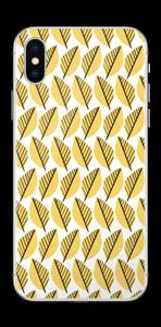 Geel bladwerk Skin IPhone XS