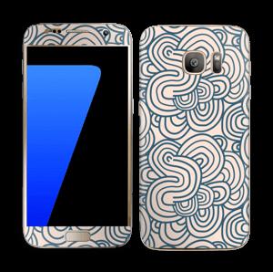 Roosat käyrät tarrakuori Galaxy S7