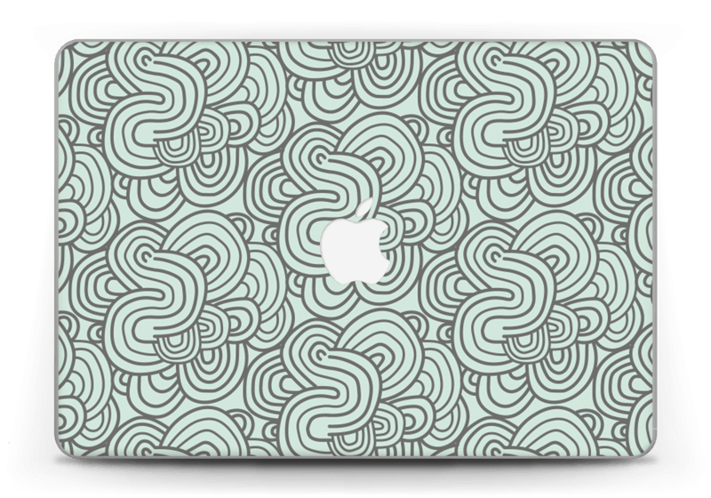 """Méandres de vert Skin MacBook Pro Retina 13"""" 2015"""