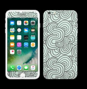 Vihreät käyrät tarrakuori IPhone 6 Plus
