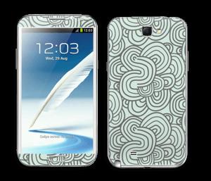 Méandres de vert Skin Galaxy Note 2