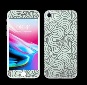 Groene kringels Skin IPhone 8