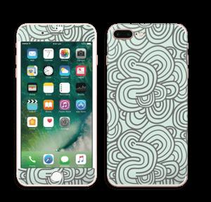 Vihreät käyrät tarrakuori IPhone 7 Plus