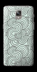 Vihreät käyrät tarrakuori OnePlus 3T