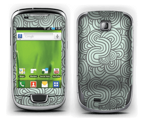 Vihreät käyrät tarrakuori Galaxy Mini