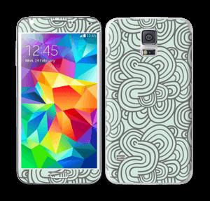 Vihreät käyrät tarrakuori Galaxy S5