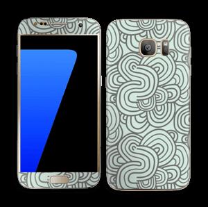Vihreät käyrät tarrakuori Galaxy S7