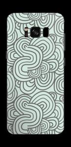 Vihreät käyrät tarrakuori Galaxy S8