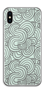 Vihreät käyrät tarrakuori IPhone XS