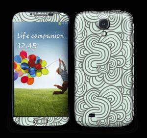 Vihreät käyrät tarrakuori Galaxy S4