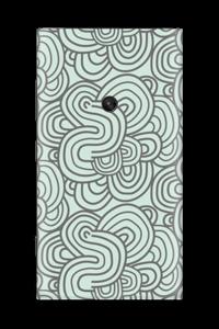 Vihreät käyrät tarrakuori Nokia Lumia 920