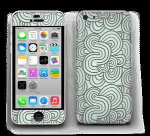 Vihreät käyrät tarrakuori IPhone 5c