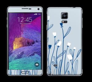 Blå blomster Skin Galaxy Note 4